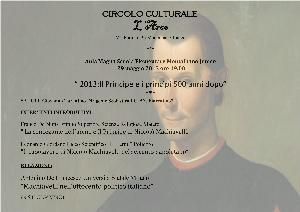 2013:Il Principe e i princìpi 500 anni dopo - 29 maggio 2013 - Matera