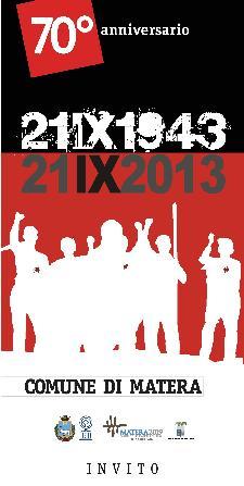 21 Settembre 1943-2013  - Matera