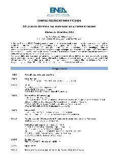 50 anni di ricerca dal Nucleare alla Green Economy - 17 dicembre 2013 - Matera