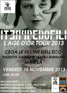 "Band ""Preti Pedofili"" live - 15 novembre 2013 - Matera"