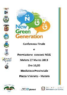 Bando New Green Generation, premiazione vincitori - 27 marzo 2013 - Matera