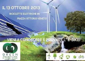 Biciclette elettriche in Piazza Vittorio Veneto - 13 ottobre 2013 - Matera