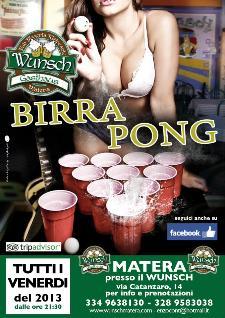 BIRRA PONG  - Matera