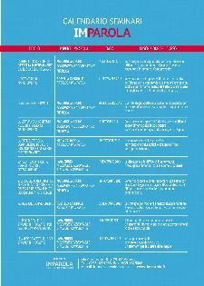 Calendario Seminari Imparola - Matera