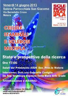 Cellule Staminali e Sclerosi Multipla  - 14 giugno 2013 - Matera