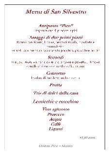 Cenone di San Silvestro 2013 a Osteria Pico - Matera