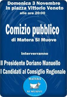 """Comizio Pubblico di """"Matera Si Muove"""" - 3 novembre 2013 - Matera"""