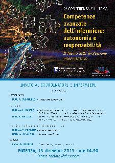 Competenze avanzate dell'infermiere: autonomia e responsabilità - 13 dicembre 2013 - Matera