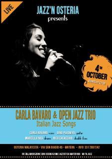 Concerti d'Osteria: Carla Bavaro e Open Jazz Trio - 4 ottobre 2013 - Matera