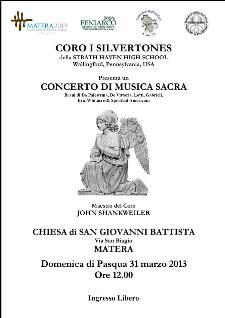 CONCERTO DI MUSICA SACRA - 31 marzo 2013 - Matera