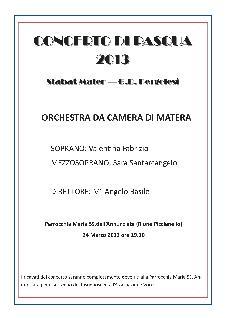 CONCERTO DI PASQUA 2013  - Matera