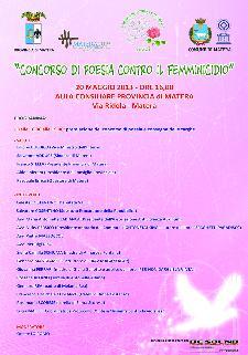 Concorso di poesia contro il femminicidio - Matera