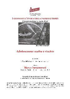 Conferenza Adolescenza: scelta e rischio - 28 gennaio 2013 - Matera