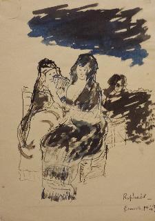 D'apres Goya, 1949. China e acquarello - Matera