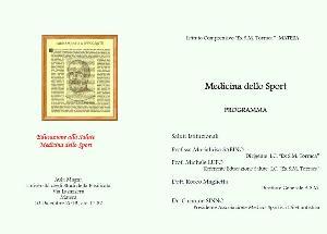 Educazione alla Salute - Medicina dello Sport - 10 dicembre 2013 - Matera