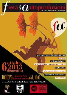 Fà - Fiera delle Autoproduzioni - 6 ottobre 2013 - Matera