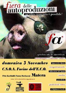 Fiera delle autoproduzioni - 3 novembre 2013 - Matera