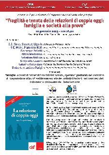 Fragilità e tenuta delle relazioni di coppia oggi: famiglia e società alla prova - 10 gennaio 2013 - Matera