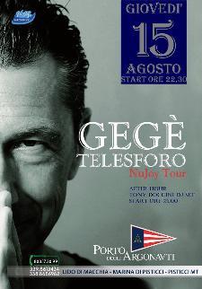 Gege' Telesforo NuJoy tour - 15 agosto 2013 - Matera