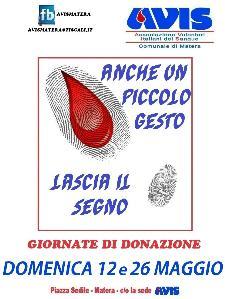Giornata di donazione di sangue  - Matera