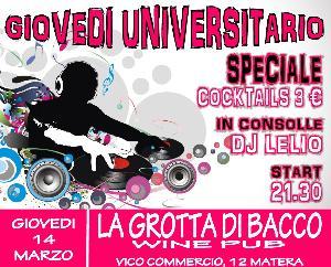 GIOVEDI UNIVERSITARIO  - Matera