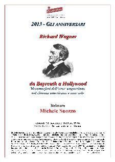 Gli Anniversari dei grandi musicisti - Richard Wagner - Matera