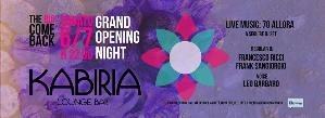Grand Opening Night - The Big Come Back - Matera