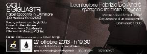 Il Cantastorie Fabrizio De Andrè - 27 ottobre 2013 - Matera