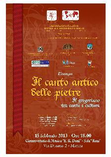 Il canto antico delle pietre - Il gregoriano tra canto e cultura - 15 febbraio 2013 - Matera