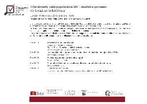 Il Censimento della Popolazione 2011, risultati e processo di rilevazione in Basilicata - 11 febbraio 2013 - Matera