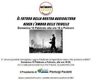 Il futuro della nostra agricoltura senza l'ombra delle trivelle - 10 febbraio 2013 - Matera