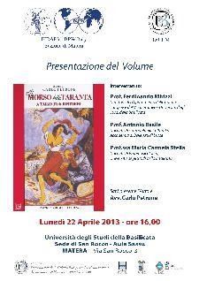 Il morso della taranta a Taranto e dintorni - 22 aprile 2013 - Matera