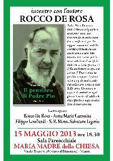 Il Pensiero di Padre Pio - 15 maggio 2013 - Matera