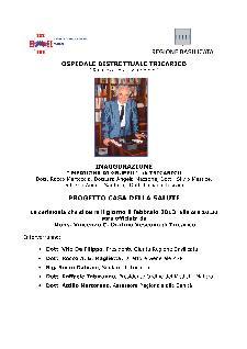 """Inaugurazione """"Casa della Salute"""" - 8 febbraio 2013 - Matera"""