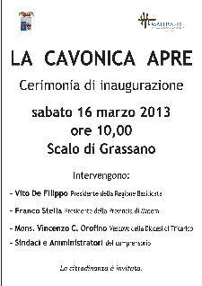 Inaugurazione Cavonica - 16 marzo 2013 - Matera