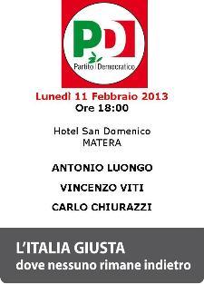 Incontro elettorale del PD - 11 febbraio 2013 - Matera