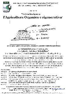 Introduzione a l'Agricoltura Organica e rigenerativa - 17 settembre 2013 - Matera