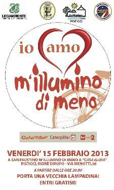 IO AMO M'ILLUMINO DI MENO - 15 febbraio 2013 - Matera