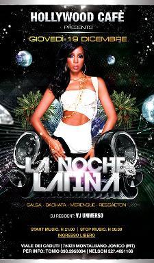 La Noche latina: Giovedì latino - 19 dicembre 2013 - Matera