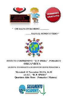 Lezione Interattiva di Disostruzione Pediatrica - 13 novembre 2013 - Matera