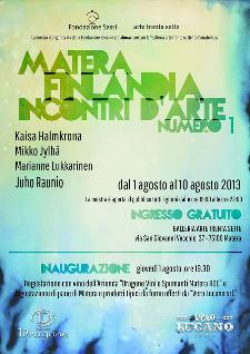 Matera Finlandia,incontri d'arte. Numero 1  - Matera