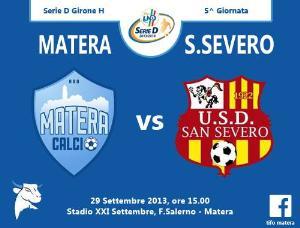 Matera vs San Severo - 29 settembre 2013 (grafica di Tifomatera) - Matera