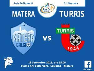 Matera vs Turris  - 15 settembre 2013 (grafica di Tifomatera) - Matera