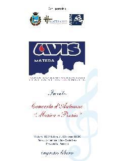Musica e Poesia - 18 ottobre 2013 - Matera
