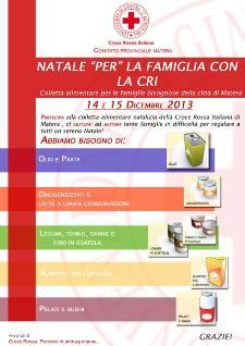 Natale per la Famiglia con la Croce Rossa Italiana - 14 e 15 dicembre 2013 - Matera