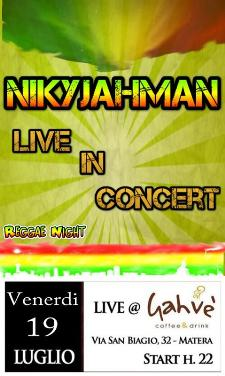 NIKYJAHMAN LIVE - 19 luglio 2013 - Matera