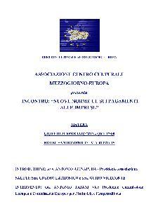 NUOVE NORME UE SUI PAGAMENTI ALLE IMPRESE - 21 febbraio 2013 - Matera