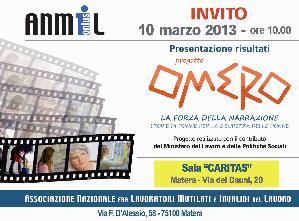 Omero - la forza della narrazione - 10 marzo 2013 - Matera