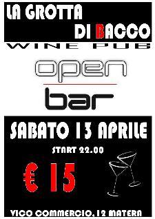OPEN BAR - 13 aprile 2013 - Matera