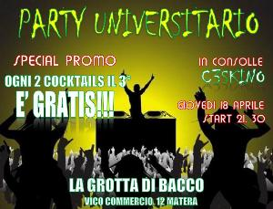 PARTY UNIVERSITARIO  - Matera